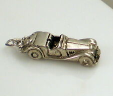 Vintage Sterling Silver Right  Hand Drive Convertible Open Roadster Car Charm