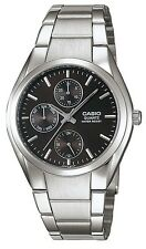 Casio MTP1191A-1A Men's Stainless Steel MultiFunction Analog Black Dial Watch