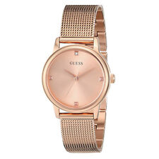 GUESS WATCH for Women * Rose Gold Tone Mesh Stainless Steel Bracelet U0532L3