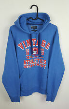 VTG MENS RETRO ATHLETIC SPORTS BLUE CHAMPION OVERHEAD SWEATSHIRT HOODIE VGC UK M