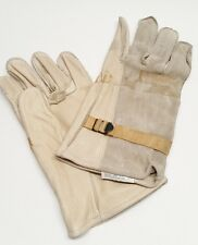 Military Cattlehide Leather Gloves Tan Size 4 LARGE Work Utility Heavy Duty DLA