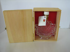 Collectible 250 ML Maple Leaf Syrup Bottle w/ Tag & Maple Leaf Wood Storage Box