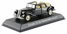 Citroen Traction 15-Six Decouvrable 1951 Black 1:43 Model 153022 NOREV