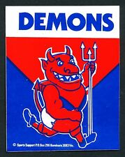 1982 Melbourne Demons Football Club Sticker Decal