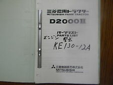 Mitsubishi D2000  II Tractor Parts Manual