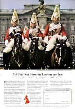 1965 British Travel Life Guards Riding to Mount Guard at House Guard PRINT AD