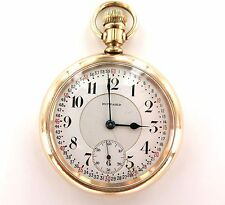 .E. HOWARD c1912 SERIES 1O 21J 16S POCKET WATCH WORKING