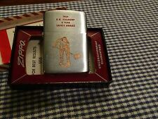 ZIPPO D.R. FOUNDRY 6 YEAR SAFETY AWAED LIGHTER 1959