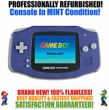 *NEW GLASS SCREEN* Nintendo Game Boy Advance GBA Indigo System MINT NEW