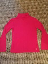 Gap Raspberry Red Pink Cotton Poloneck Top Age 6 - 7 Vgc