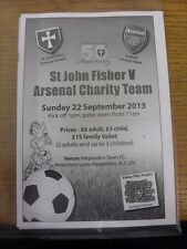 22/09/2013 At Harpenden Town: St John Fisher v Arsenal Charity Team [Charity Mat