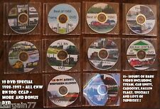 Railfan DVDs 1988-1995 10 DVDs of CNW+BN+SOO+ATSF+AMTK+CCP+More.Over15 hours!!!!