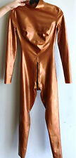 Bronze Syren Latex Catsuit w/ Back Zip