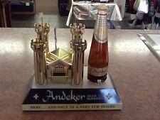 Andeker Gold Castle, Lighted Beer Supreme Sign, Back Bar Display, works, nice