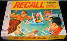 1968 Recall Game of Observation by Milton Bradley