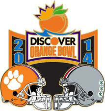 Official 2014 Discover Orange Bowl Pin Ohio State Buckeyes vs Clemson Tigers