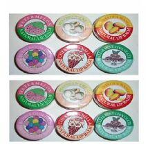 Candy Kisses Natural Lip Balm 12 pack bubble gum peaches n' cream watermelon +