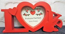 LOVE WORD PICTURE FRAME Heart Aperture GIFT Love Anniversary PHOTO MESSAGE