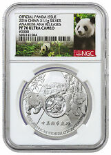 2016 China 1 oz Silver Official Issue Anaheim ANA NGC PF70 Panda Label SKU42641