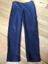 Girls Navy Denim Style Leggings Gold Stitching Detail George 10-11 Years VGC
