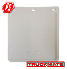 2 TRUCKMATE PLAIN MUD FLAPS WHITE 230mm x 250mm (10 inch x 9 inch)