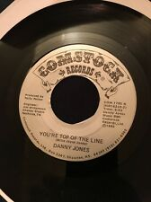 Rare  45 Danny Jones GONNA WIN YOUR HEART/YOU'RE TOP OF THE LINE '85 Comstock