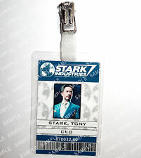 Iron Man ID Badge Tony Stark CEO Marvel Cosplay Prop Costume Novelty Christmas