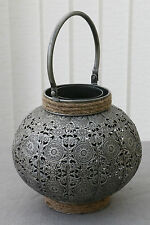 Beautiful Moroccan/ Marrakesh Style Silver  Effect Candle Holder