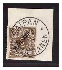 Marianen Mi. 1 II Plattenfehler I °  Saipan  13.5.oo  Luxus Briefstück gepr. BPP