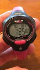 Ladies TIMEX Pink/Black Ironman Triathlon Multi Function Sport, 10 Lap Watch