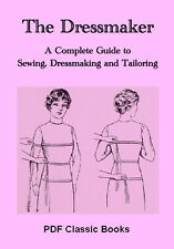 Dressmaker Sewing Dressmaking Tailoring Instruction Pattern Classic Book, CD