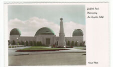 Griffith Park Observatory Los Angeles California Color Tinted RPPC postcard