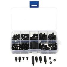 180Pz M3 Vite Nylon Black Hex M-F Spacers/ Screws/ Nuts Assorted Kit, Standoff