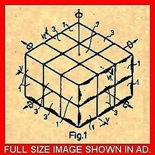 US PATENT for the RUBIKS CUBE/Toy-Erno Rubik 1983 #808