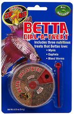 ZOO MED BETTA DIAL A TREAT MYSIS DAPHNIA BLOOD WORMS TANK FREE SHIP IN THE USA
