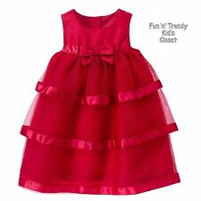 NWT Gymboree ROYAL RED Girls Size 2T Christmas Holiday Lined Tiered Tulle Dress