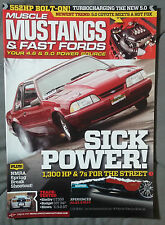 2011 JULY MUSCLE MUSTANGS FAST FORDS MAGAZINE 4.6 5.0 FOX COBRA GT R 500
