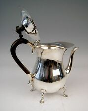 SILBER KAFFEE KANNE SILVER COFFEE POT BRITISH EMPIRE UK SHEFFIELD MAPPIN & WEBB