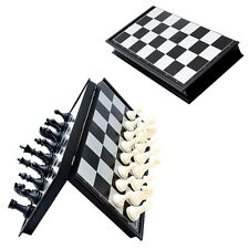 Portable Travel Magnetic Wooden Board Tournament Chess Set Wood Pieces Kids