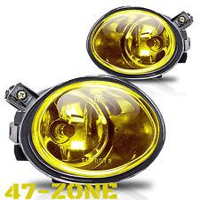 For BMW M3 M5 325 330 E46 E39 Yellow Lens Chrome Housing Fog Lights Lamps