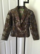 ETRO MILANO FABULOUS JACQUARD FLORAL JACKET 42 UNIQUE MADE IN ITALY