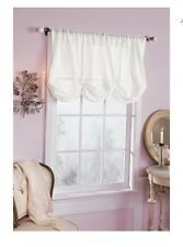 SIMPLY SHABBY CHIC WHITE BATISTE Window Balloon Shade EMBROIDERED New