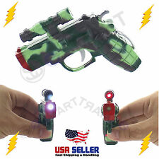 Electric Shock Gun Pistol Shocking Prank Flashlight Laser Pointer Trick Fun Toy