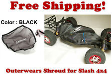 Traxxas Slash 4X4 ESC Receiver Chassis Shroud by Outerwears 20-2601-01 BLACK