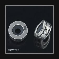 Sterling Silver Round Rubber Stopper Bead 8mm Fit European Bracelet #51691