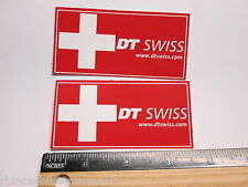 "TWO 4.25"" DT SWISS Rim Hub (Dirt MX RIDE BMX DH MTB Frame Bike DECAL STICKER RBz"