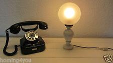 Tisch Lampe Kugel Leuchte Fensterbank-70er Jahre Alabaster Glas im Jugendstil