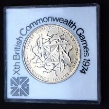 New Zealand One Dollar Xth  British Commonwealth Games 1974 in Commerative case