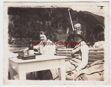 (F4870) Orig. Foto Vierwaldstättersee, Damen auf Schiff, Juni 1925