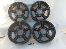SET OF 4 LAND ROVER DEFENDER BLACK ALLOY WHEELS ZU/MACH5/CHALLENGER/ATOM STYLE